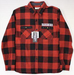 HARDBIRD Studded heavy flannel shirt 1