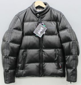 SCHOTT leather down jacket