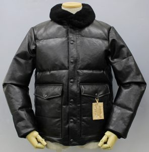 RAINBOW COUNTRY All Leather Racing Down Jacket BOMBER