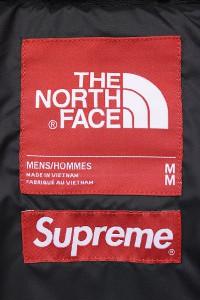 17AW Supreme × The North Face Leather Nuptse Jacket シュプリーム ノースフェイス レザーヌプシダウンジャケット赤4