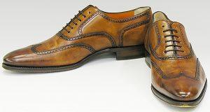 Santoni wing tip shoes