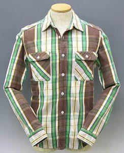 JELADO short length check flannel shirt