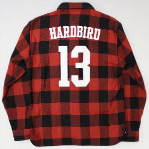 HARDBIRD Studded heavy flannel shirt 2