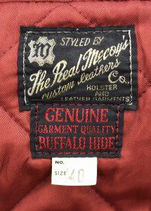REAL McCOYS buffalo leather coat 2