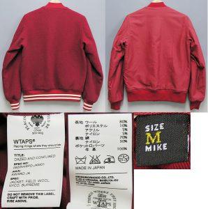SUPREME×WTAPS baseball jacket 2