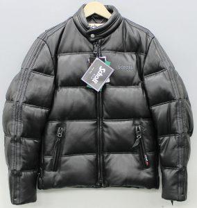 SCHOTT leather down jacket