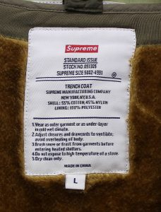 SUPREME 12AW Army Trench Coat3
