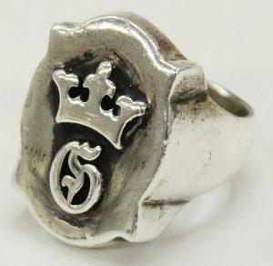 GABOR G&Crown raised de shield ring 1