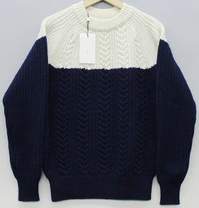 N.HOOLYWOOD 15AW CABLE 2TONE KNIT