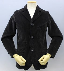 GREAT LAKES GMT. MFG. Co ENGINEER'S CLOTHES LATE 1800's SACK COAT 「Steinman」 HEAVY Oz CORDUROY