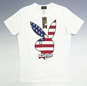 マスターマインド・シアターエイト(mastermind×THEATER8) 11FA PLAYBOY 星条旗スカルTシャツ