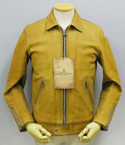 ADDICT CLOTHES NEW VINTAGE AD-01 KIP LEATHER CENTER ZIP JACKET