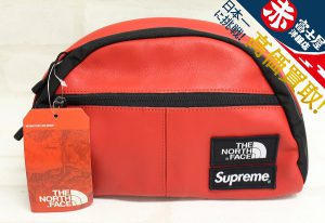 Supreme×The North Face Leather Roo II Lumbar Pack シュプリーム ノースフェイス ランバーパック レッド