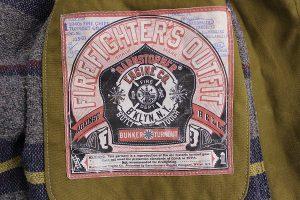 バーンストーマーズ ファイヤーチーフターンアウトコート BARNSTORMERS 1940s Fire Chief Turn Out Coat J13-01OD5
