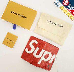 Louis Vuitton×Supreme Pocket Organizer ポケットオーガナイザー 二つ折りカードケース 赤 シュプリーム ルイヴィトン