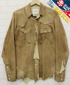 The Soloist 14ss rough out shirt sg.0078 ソロイスト ラフアウトレザーシャツ