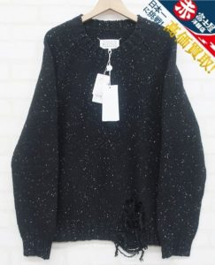 メゾンマルジェラ10 S50GP0176 Gauge 3 Damaged Crew Neck Sweater Maison Margiela
